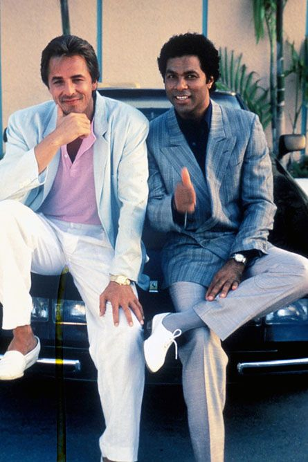 Miami Vice! Great theme tune although I always wondered how they could afford the designer clothing on a cops salary.