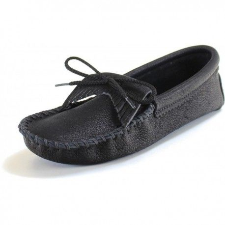 Itasca Leathergoods | Women's Sinsinawa Moccasin - Pebble | Made in the USA  | Handcrafted
