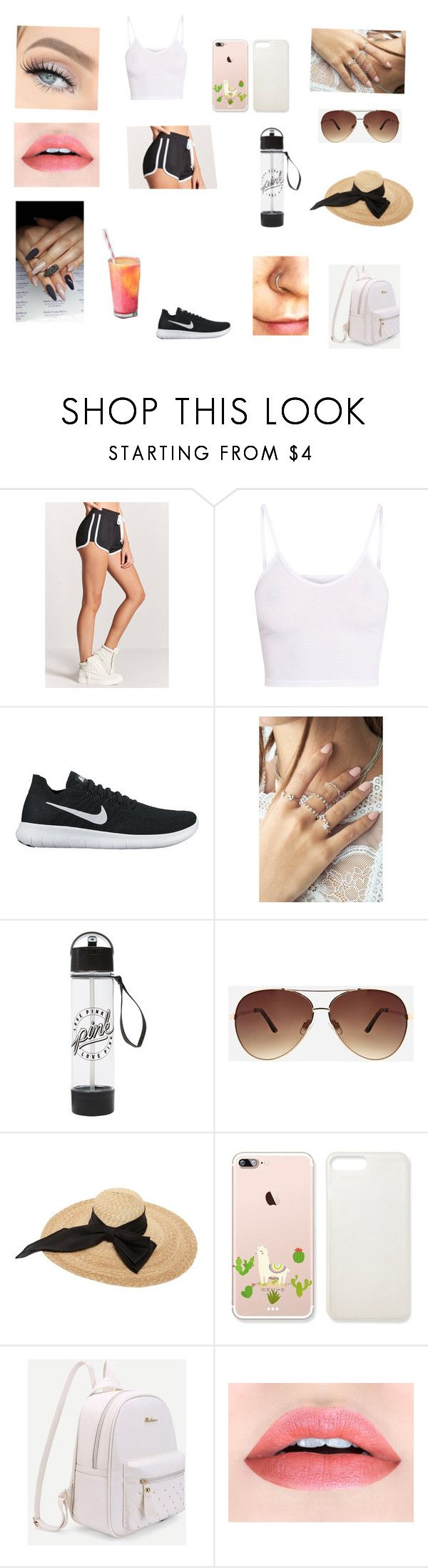"""""""Untitled #322"""" by maddison-baron on Polyvore featuring Forever 21, BasicGrey, NIKE, GET LOST, Ashley Stewart and Kreisi Couture"""
