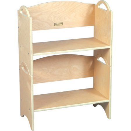 Guidecraft Stacking Bookshelves, Natural, Beige