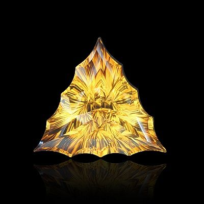 "shalloped triangle-shaped ""triumvirate""? cut citrine by gems by design, inc."