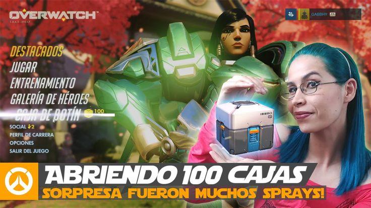 Abramos 100 cajas de botín de Overwatch ¡Puro loot!