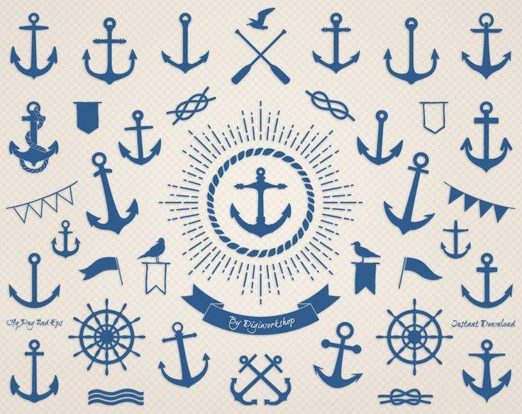 Anker-Clip-Art: Sea Anchor nautische Clipart mit