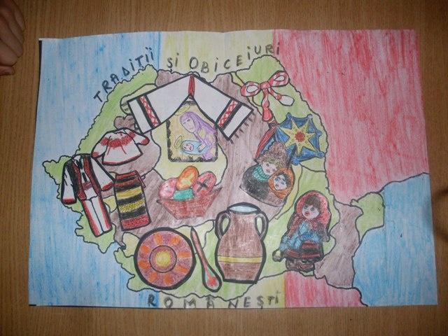 colaj cu obiceiuri si traditii pe harta Romaniei