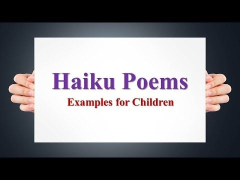 Haiku Poems Examples for Children - YouTube