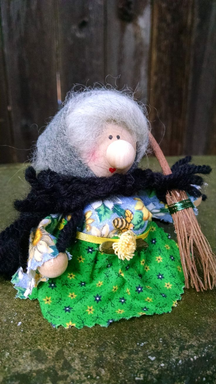 Kitchen Witch Strega Nona La Befana Green Thumb Garden Witch Herb Wife Scandinavian Good Luck Gift Cute Witch Doll by Tomtenology on Etsy