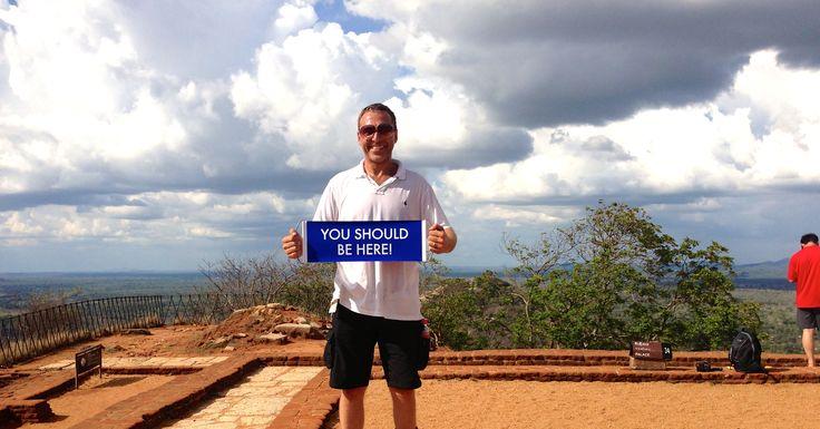 On the top of Sigiriya