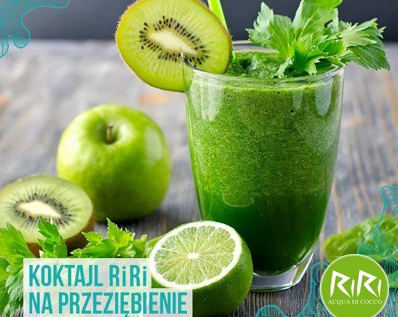 Zielone koktajle: pietruszka + kiwi + banan + limonka + siemię lnian...