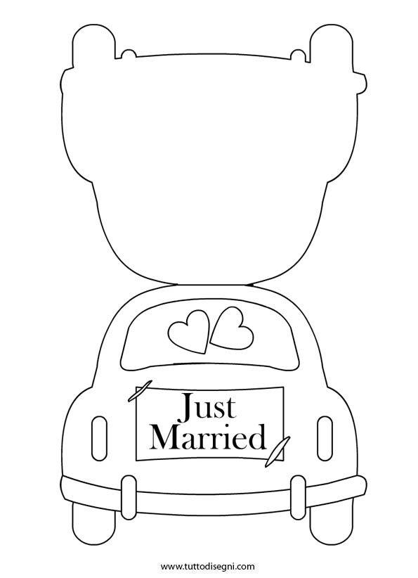 Biglietto per matrimonio da colorare  http://www.tuttodisegni.com/biglietto-per-matrimonio-da-colorare/#