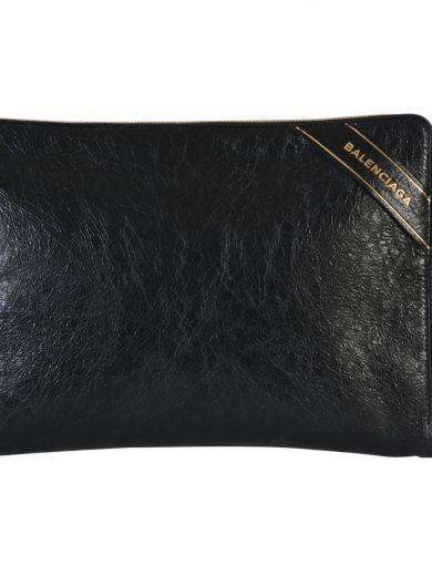 BALENCIAGA Balenciaga Pochette In Pelle Di Vitello Nera. #balenciaga #bags # #
