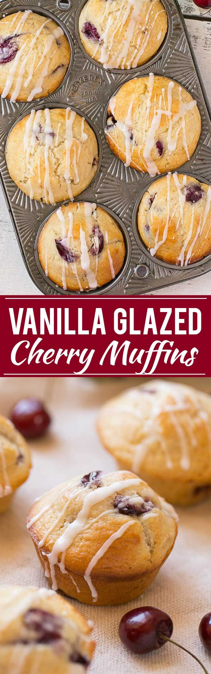 Glazed Cherry Muffins