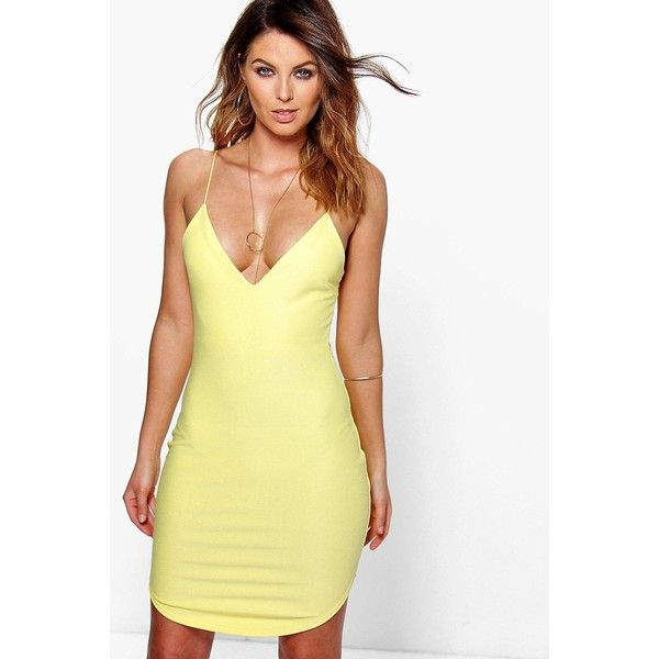 Boohoo Chrisa Curved Hem Strappy Bodycon Dress | Boohoo ($26) ❤ liked on Polyvore featuring dresses, yellow, sequin bodycon dress, maxi dresses, bodycon maxi dress, sequin dresses and bodycon party dresses