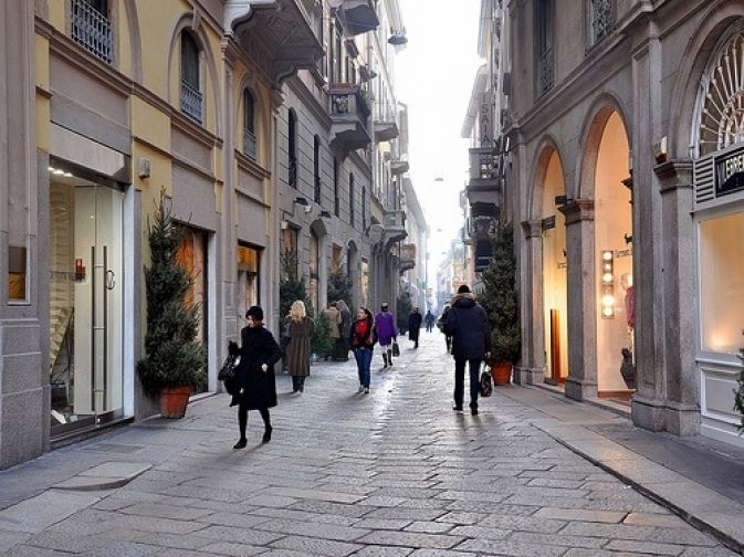 Milano, Via Della Spiga. The place for absolute luxury shopping.