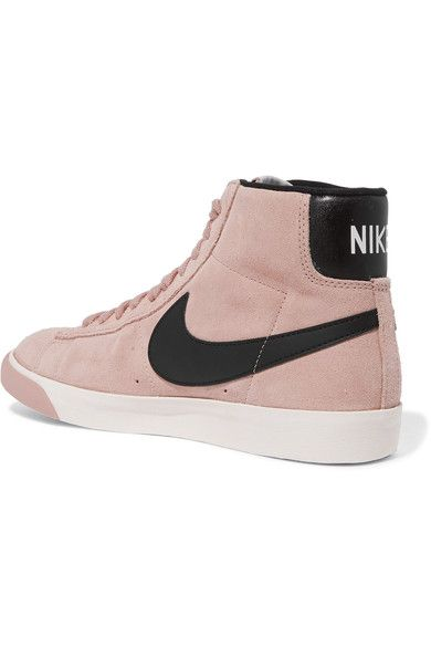Nike - Vintage Blazer Leather-trimmed Suede High-top Sneakers - Pink