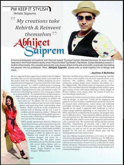 13 Best Fashion Designer Abhijit Saiprem Media/articles