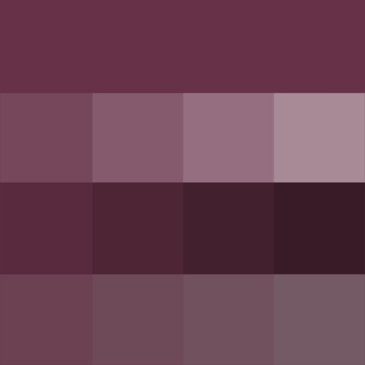#Old #Mauve shades (Hue) ( pure color ) with Tints (hue + white), Shades (hue + black) and Tones (hue + grey, which desaturates the Hue)