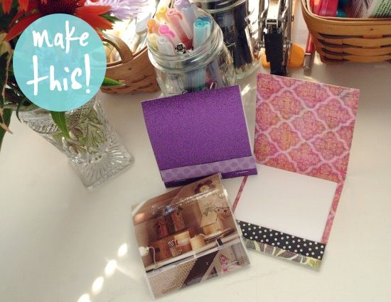 Hey, you could put your Love List items in this cute l'il DIY matchbook notebook! :-)