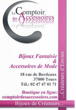 Tours à Centre Le Comptoir des Accessoires 18 rue de Bordeaux Galerie du Grand Passage 37000 Tours http://www.comptoirdesaccessoires.com