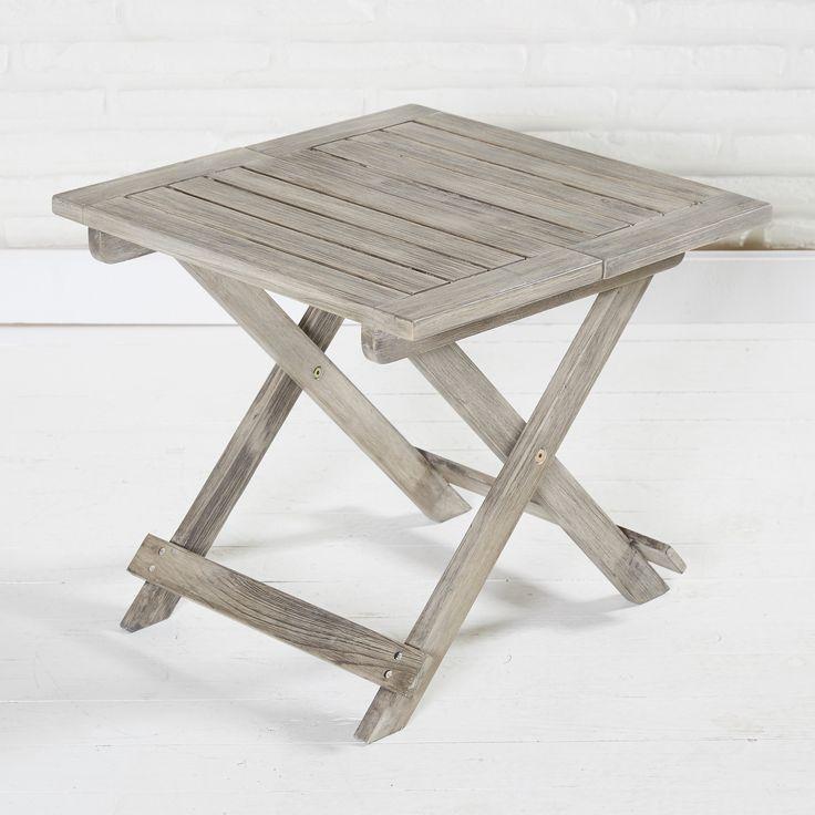 picknicktisch holztisch kleiner tisch holz klappbar 50 x 50 x 45 cm grau - Kleiner Kuchentisch Klappbar