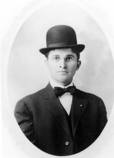 Portrait Of A Young Harry S Truman In Derby Hat Mr