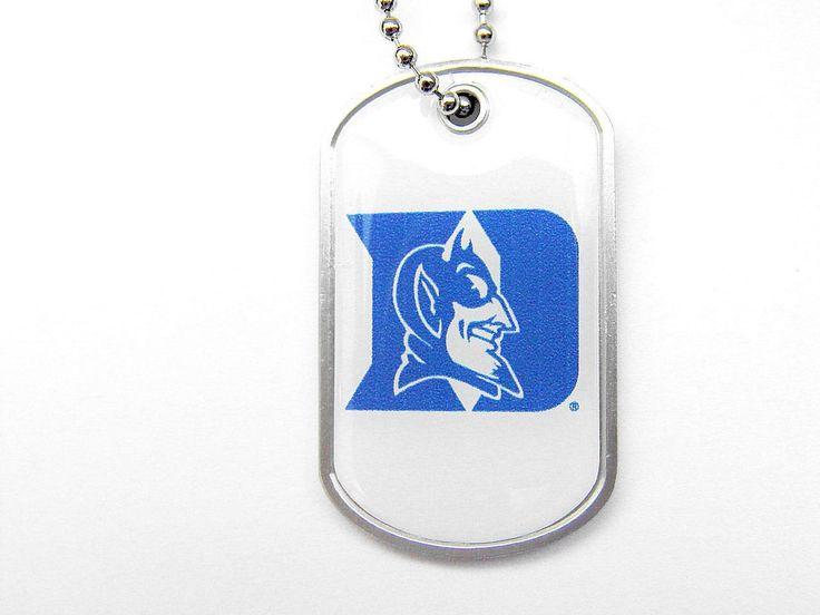 Duke Blue Devils Domed Dog Tag Necklace