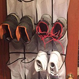 30d96a3cddd Amazon.com  Customer reviews  MISSLO Over The Door Shoe Organizer 24 Large  Mesh