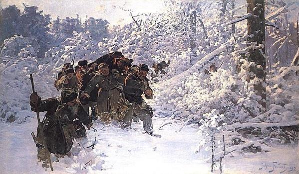 Julian Fałat - Le retour de la chasse  1892