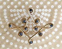 Peg Pattern for Suzanne's Earrings showing jewelry wire pattern on WigJig jewelry tools.