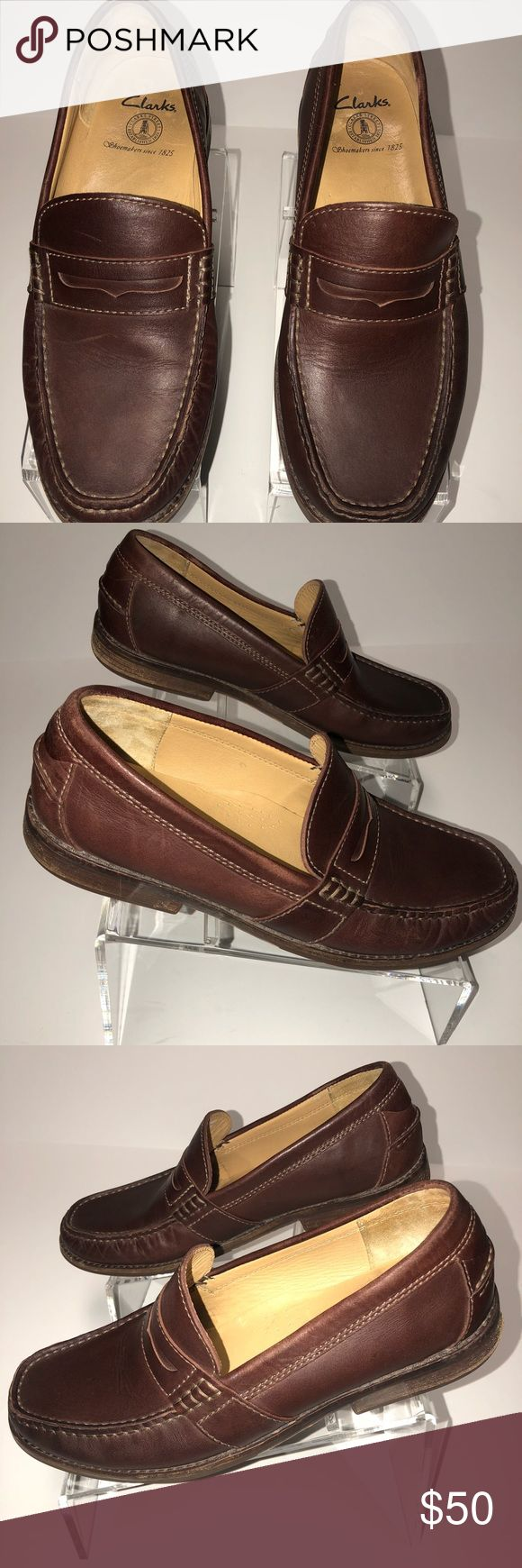 Clarks Men's Brown Loafers Size 10.5M Clarks Men's Brown Leather Loafers.  Size 10.5 M.  Excellent pre-owned condition.  They look brand new.  No flaws. Clarks Shoes Loafers & Slip-Ons