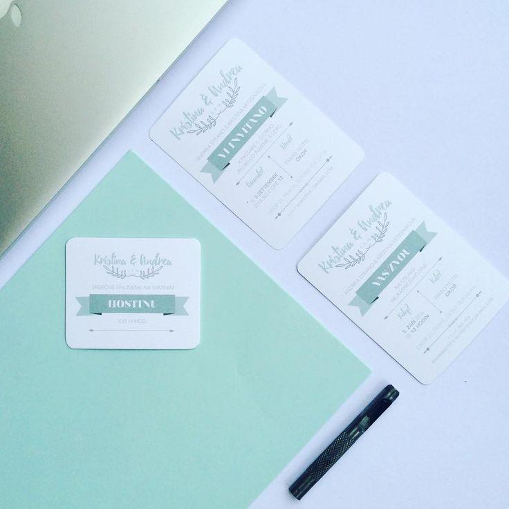 Svatební oznámení #svatbadesign #grafika #svatebni #oznameni #svatebnioznameni #mentol #svatba #graphic #graphicdesign #wedding #design #logo #invitation #weddinginvitation #mint