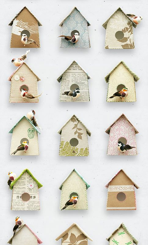 Studio Ditte - Birdhouse Wallpaper