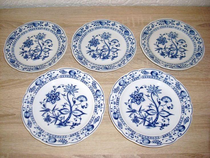 5 St Zwiebelmuster Teller Triptis Porzellan 17cm u 19cm www.maisold24.com