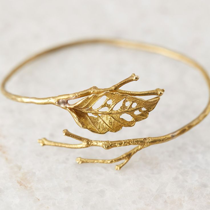 Lace Leaf Brass Cuff from terrain