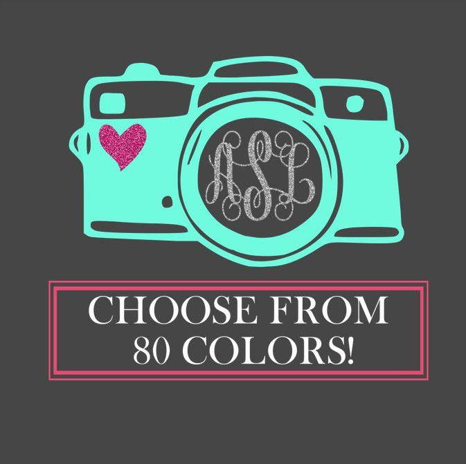 Custom Car Decal, Car Decal, Monogram Car Decal, Car Decals for Women, Photographer Car Sticker, Camera Decal, Photography Decal,Photography by chessacreations on Etsy