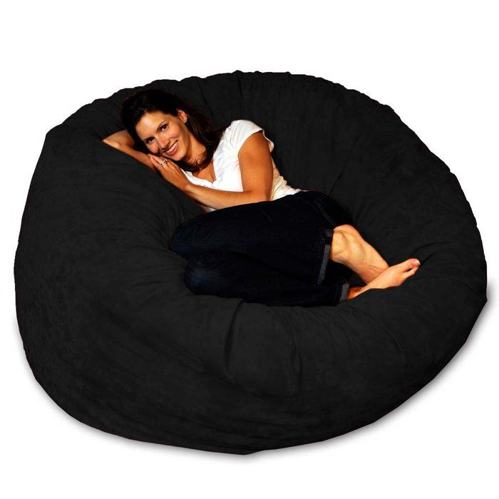 I love it, an adult size beanbag ...ohh looks so comfy!! Micro Suede Theater Sack Bean Bag Chair