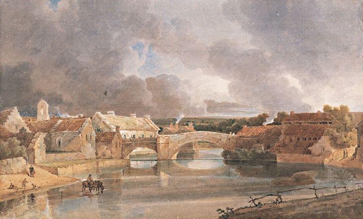 thomas girtin the art of watercolour | Morpeth Bridge by Thomas Girtin (1802)