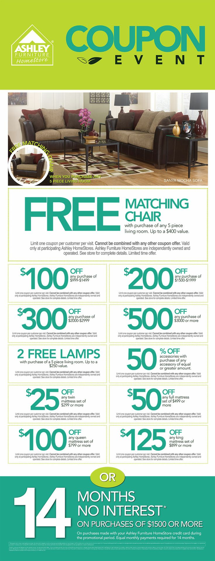 The Summer Savings Coupon Event At Ashley Furniture In Richland Wa Going On June 10th 2014
