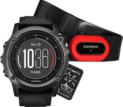 Garmin Умные часы Garmin 010-01338-74. Коллекция Fenix 3  — 48440 руб. —  Garmin Fenix 3 Sapphire HR - спортивные часы оснащены защитным кольцом и кнопками из нержавеющей стали с PVD-покрытием. GPS, встроенный и нагрудный пульсометр, совместимость с Android и IOS. Технология Elevate для измерения частоты пульса на запястье. Электронный компас (с компенсацией наклона, 3-х осевой).Барометр. Альтиметр. Специальные функции для геокэшинга. Функции часов: время, дата, сигнал будильника и вибрация…