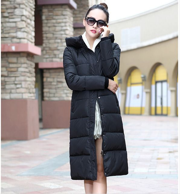7-14 days To Moscow 2016 New winter design long overcoat women's cotton-padded jacket plus size candy color Jackets & Coats US $100.66-102.88 To Buy Or See Another Product Click On This Link  http://goo.gl/yekAoR