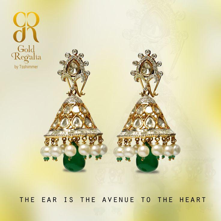 The ear is the avenue to the heart! : http://goo.gl/mb04Xx #WomensJewelry #ClassyJewelry #DiamondJewelry #DiamondEarring #EarringsOnline