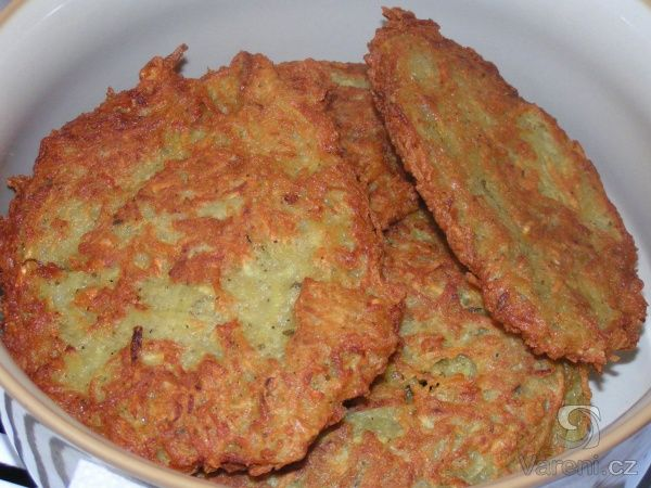 These are delicious traditional potato pancakes from the Czech Republic....just like mamka used to make!