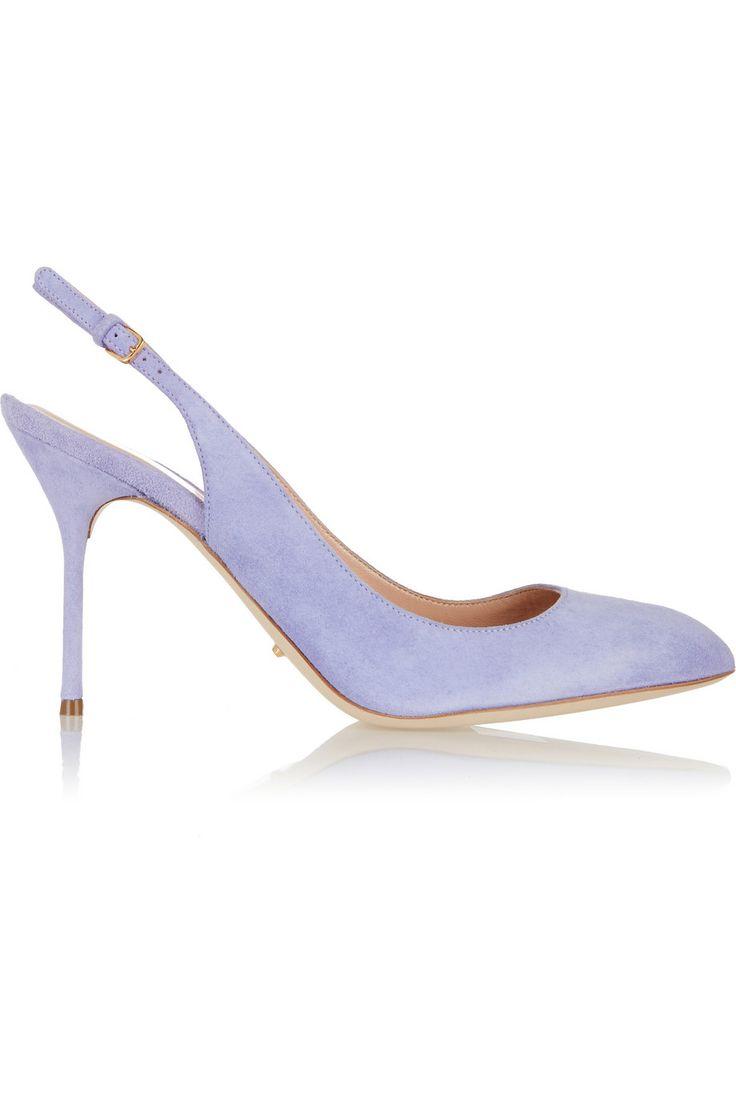 Sergio Rossi lilac Suede pumps