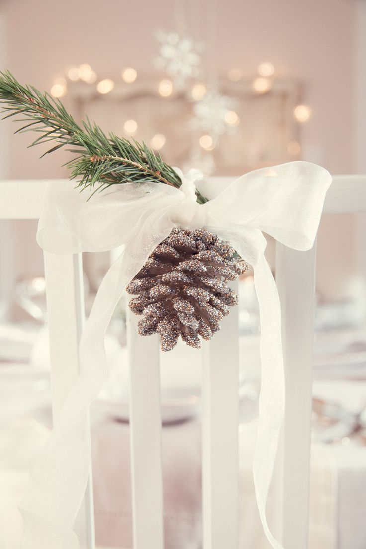 Bride to Be Reading ~ The Laura Ashley Blog | Christmas table arrangement at a wedding.