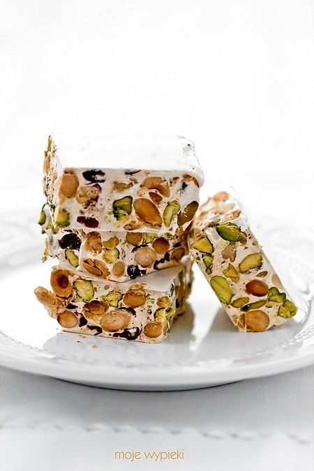 Pistachio, Almond and Cranberry Nougat