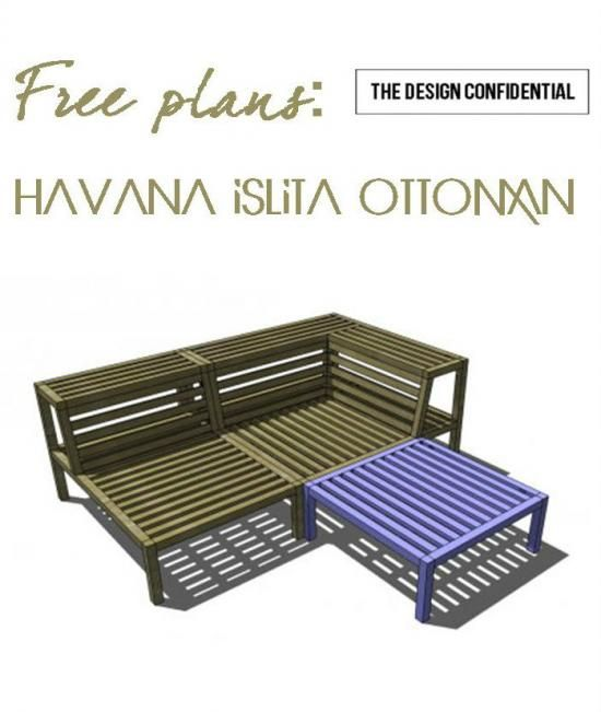 Free DIY Furniture Plans to Build a Havana Islita Outdoor Ottoman | The Design Confidential