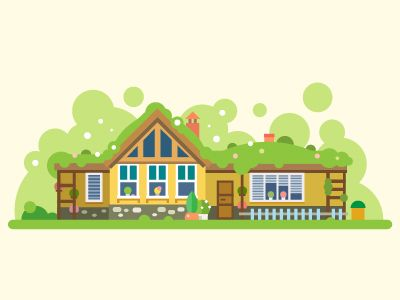 Green house by TastyVector