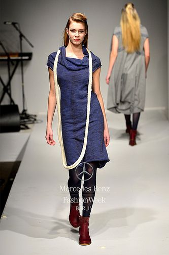 Elementum AW16/17 at Green showroom/ Ethical Fashion Show during Berlin Fashion Week.   Style MEIO LONG in Baby Alpaca& Organic cotton.