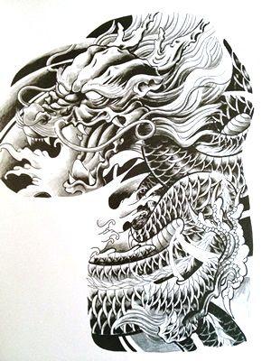 Banner Tattoo Flash | CHINA TATTOO - Fechamento de peito e braço