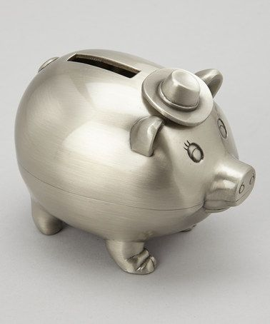 Take a look at this Pewter Sir Oink-a-Lot Piggy Bank by Wilouby International on #zulily today!