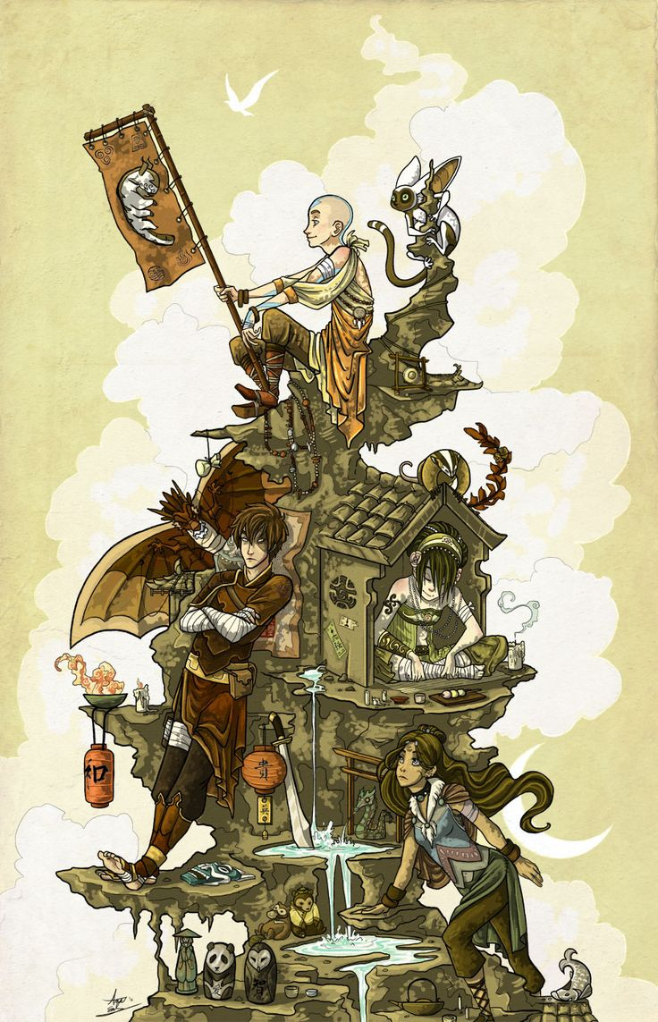 Avatar the Last Airbender fanart -- Build This World Together by *Turtle-Arts on deviantART // This reminds me of Howl's Moving Castle. :3
